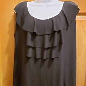 Claudia Richard Sleeveless Ruffle Top
